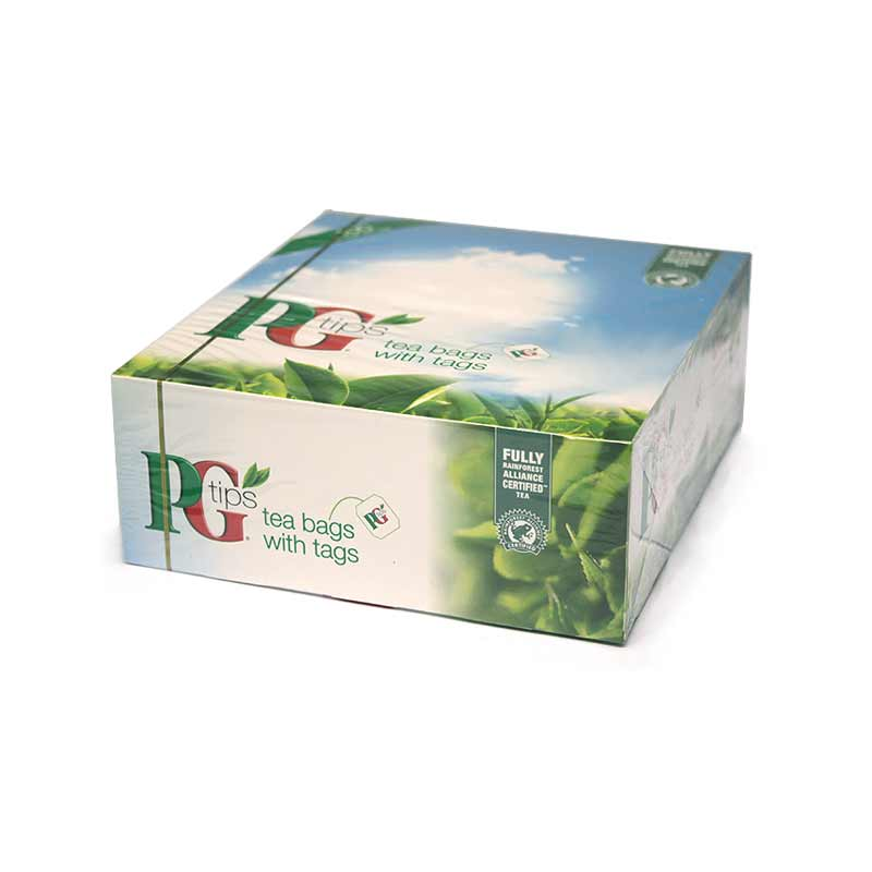 Pack of 100 PG Tips Tagged One Cup Tea Bags