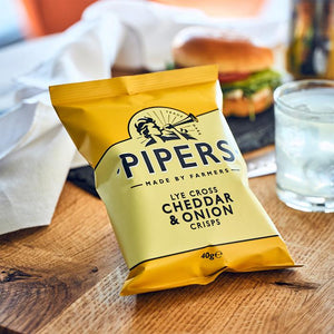 Pipers Crisps Cheddar and Onion 40g
