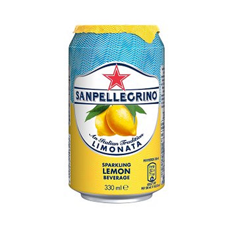 6 x San Pellegrino Limonata Lemon 330ml Cans