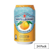 6 x San Pellegrino Orange Sparkling Can 330ml