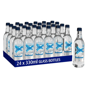 Strathmore Glass Bottled Water - Still 330ml. Case of 24