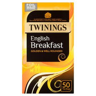 Twinings English Breakfast Tea, 50 x Tea Bags