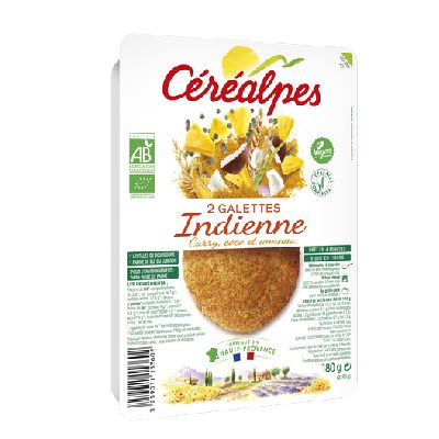 Galettes Indienne 2x90g Cerealpes