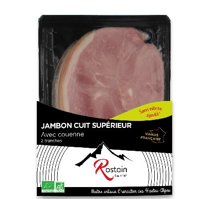 Jambon Cuit Couenne 2tr Ss Nitrites Rostain