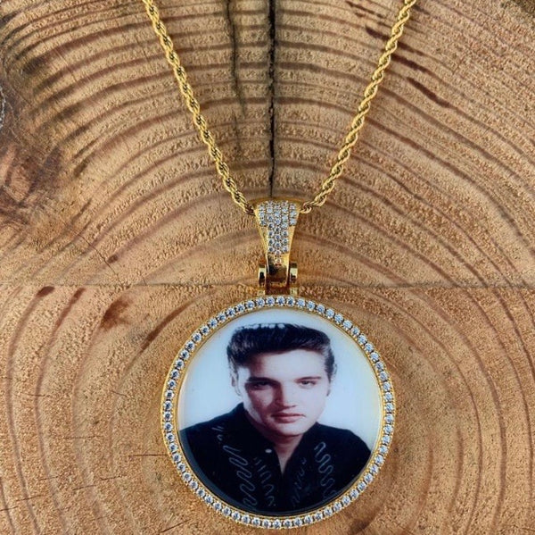 ICED Down Custom Engraved Picture Pendant