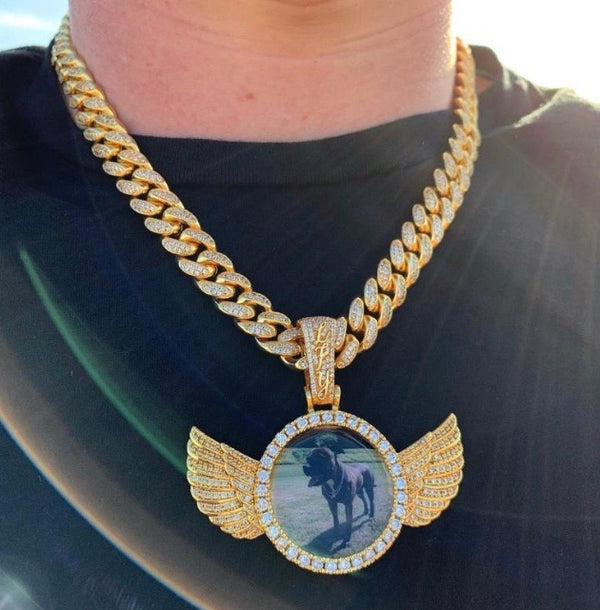 ICED Down Heavens Angel Pendant