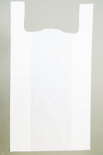 Super Jumbo White Plain T-Shirt Bag (20