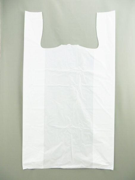 Jumbo Strong Unprinted White T-Shirt Bag (17