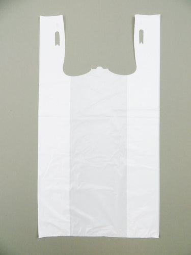 Standard Unprinted White T-Shirt Bag (1/6 BBL - 11.5