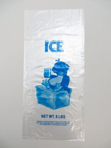 8LB - LDPE Printed Ice Bags (10