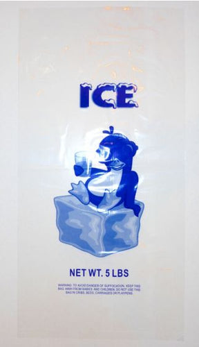 5LB - LDPE Printed Ice Bags (9