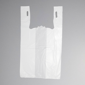 "Standard Unprinted White T-Shirt Bag (13"" x 10"" x 23"")"