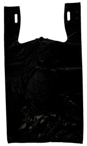 "Black T-Shirt Heavy Duty Bag Embossed (1/6 BBL - 11.5"" x 6.5"" x 21"")"