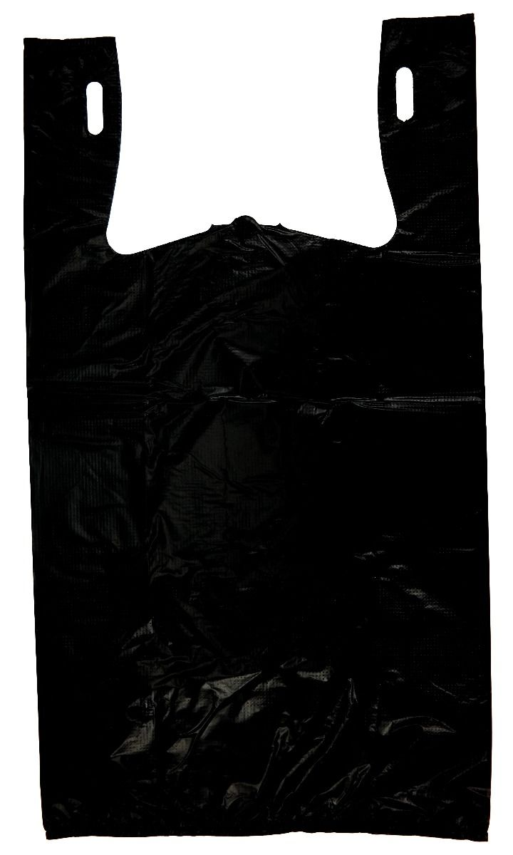 Black T-Shirt Heavy Duty Bag Embossed (1/6 BBL - 11.5