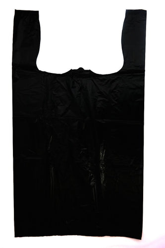 Strong Jumbo Black Plain T-Shirt Bag (17