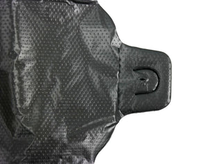 "Black Plain Embossed T-Shirt Bag (1/10 BBL - 8"" x 4"" x 15"")"