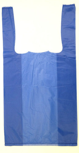 Blue Plain Embossed T-Shirt Bag (1/10 BBL - 8