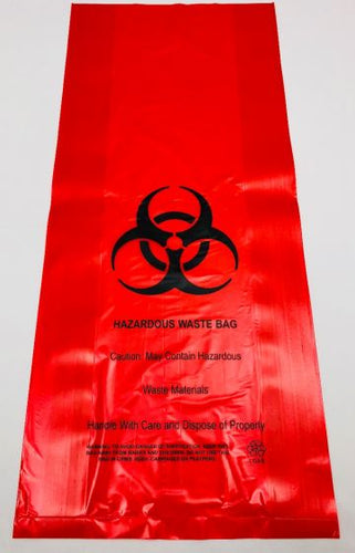 Hazardous Waste Red Color Bag (10