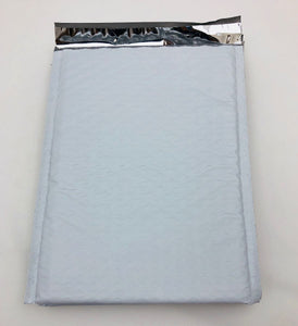 "White Poly Bubble Mailers (6.5"" x 9"" + 1.5"" Self Seal Lip)"