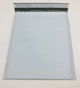 "White Poly Bubble Mailers (8.5"" x 11"" + 1.5"" Self Seal Lip)"