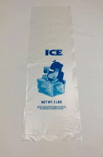 3LB LDPE Printed Ice Bags (6
