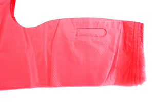 "Pink Plain Embossed T-Shirt Bag (1/6 BBL - 11.5"" x 6.5"" x 21"")"