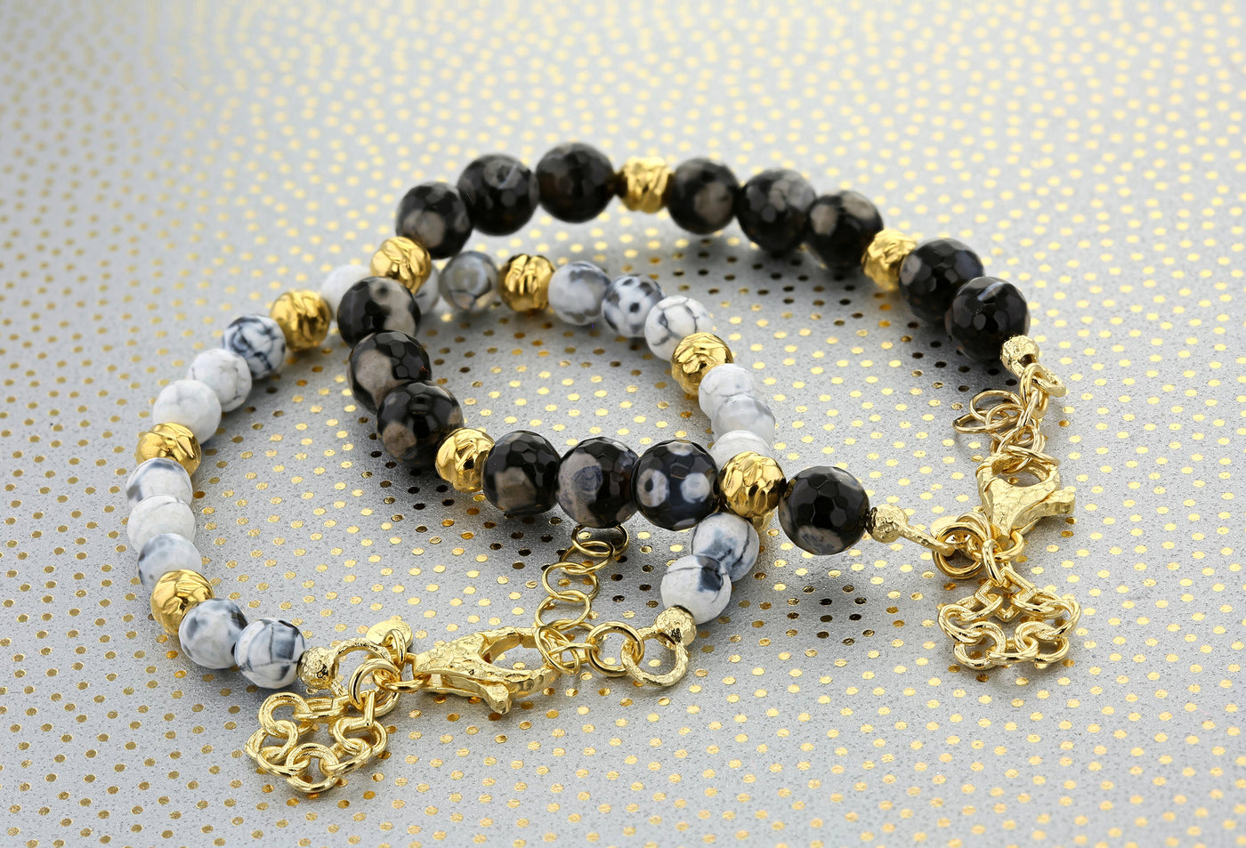 HANDCRAFTED IN ITALY- GEMSTONE BEADED BRACELETS
