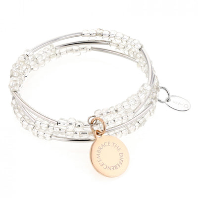 EMBRACE THE DIFFERENCE® WRAP BRACELET -  ROSE GOLD CHARM