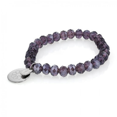 EMBRACE THE DIFFERENCE® STRETCH BRACELET - PURPLE GLASS BEADS