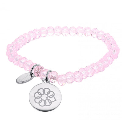 EMBRACE THE DIFFERENCE® STRETCH BRACELET - PETITE PINK GLASS BEAD