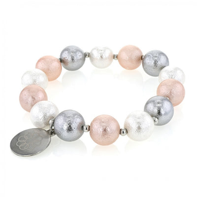 EMBRACE THE DIFFERENCE® MOTHER OF PEARL BRACELET - PINK, SILVER AND WHITE