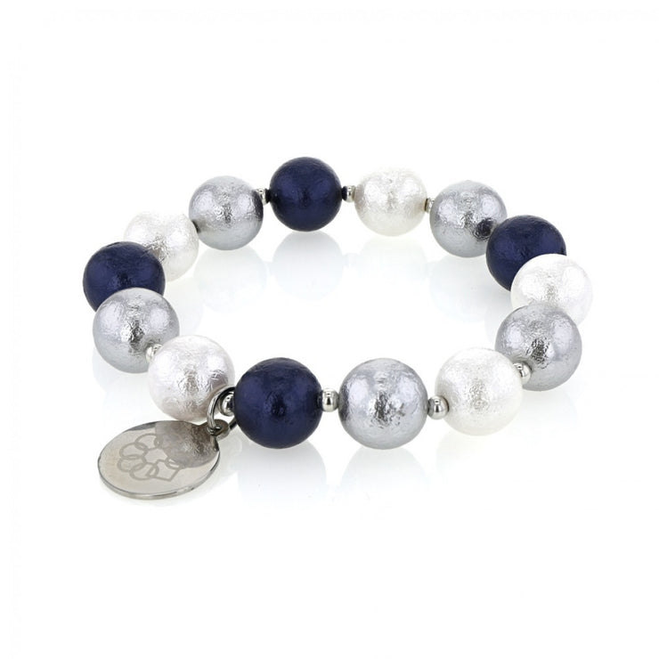 EMBRACE THE DIFFERENCE®, MOTHER OF PEARL MATTE BRACELET IN - BLUE