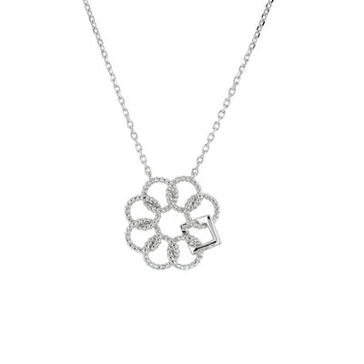 Embrace the Difference® Classic Mini-Pendant - ribbed sterling silver