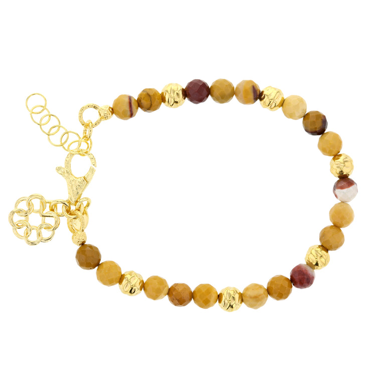 Italian -Mustard Jasper & Bronze Embrace the Difference® Bracelet