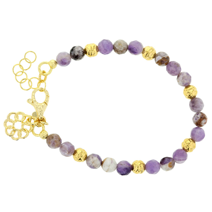 Italian Lilac Jasper & Bronze Embrace the Difference® Bracelet