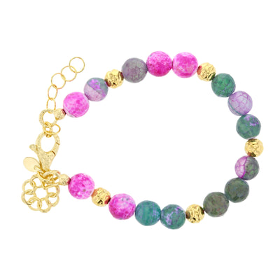 Italian Fuchsia Jasper & Bronze Embrace the Difference® Bracelet