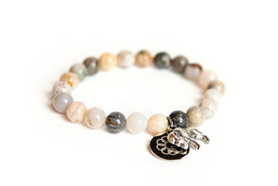 Buffalo Embrace the Difference® Bamboo Agate Stretch Bracelet