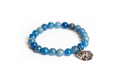 Buffalo Embrace the Difference® Blue Aventurine Gemstone Stretch Bracelet