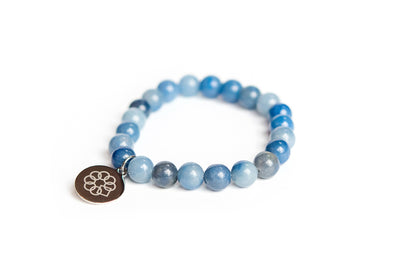 Embrace the Difference® Blue Aventurine Gemstone Stretch Bracelet