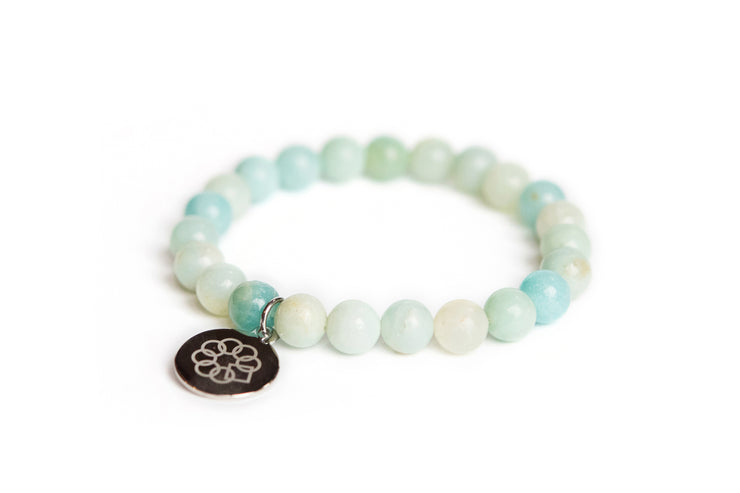 Embrace the Difference® Multi Color Amazonite Gemstone Stretch Bracelet