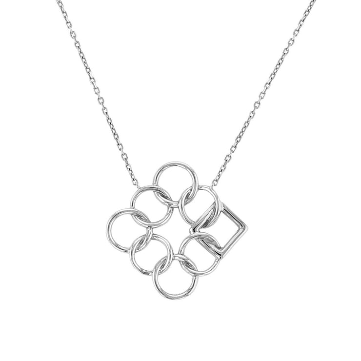 Embrace the Difference® Angled Pendant - Sterling Silver