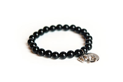Buffalo Embrace the Difference® Black Onyx Gemstone Stretch Bracelet