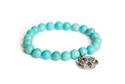 Buffalo Embrace the Difference® Blue Howlite Turquoise Gemstone Stretch Bracelet