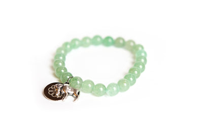 Buffalo Embrace the Difference® Green Aventurine Gemstone Stretch Bracelet