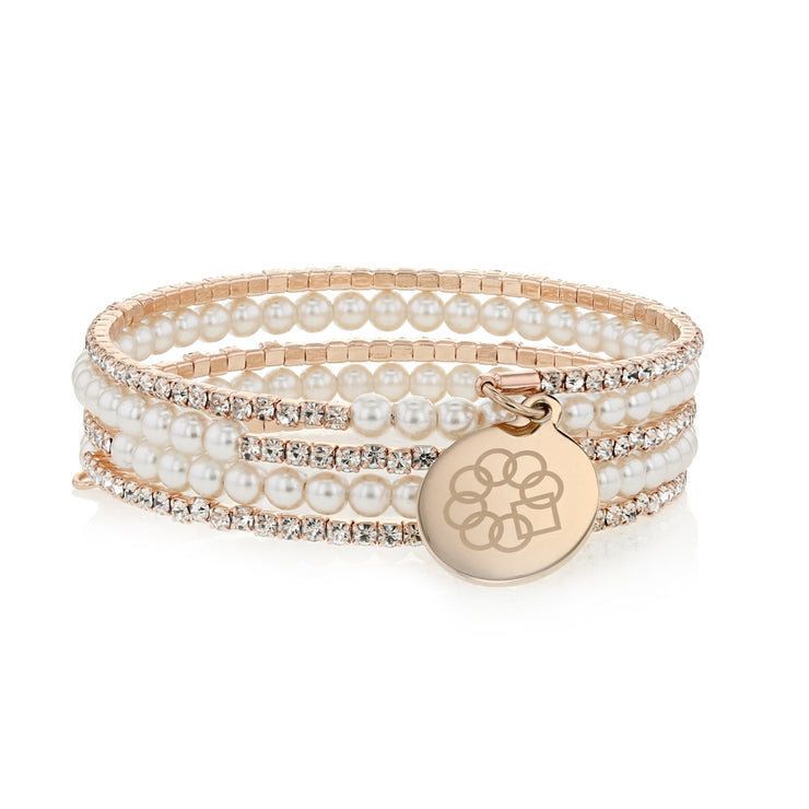 Embrace the Difference® Sparkling Wrap Bracelet - Rose Gold