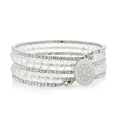 Embrace the Difference® Sparkling Wrap Bracelet - Clear Beads