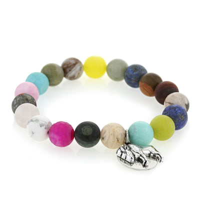 Buffalo Embrace The Difference® Colorful 10mm Gemstone Bracelet