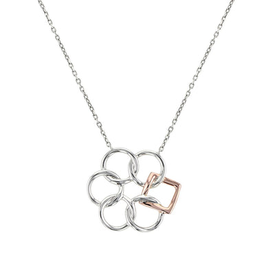 Embrace the Difference® Simply Classic Pendant - Sterling Silver & 14kt Rose Gold