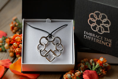 Embrace The Difference® Sterling Silver Classic Jumbo Necklace on Leather Cord