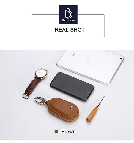 BAYDOW BD-019 Smart Key Buckle [2-Way Alarm / Location / Smart Find / Remote Self-timer] - Brown